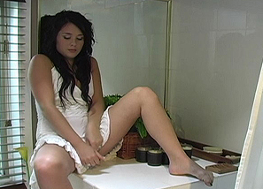 Backstage - photoshoot - White dress Teasing 6